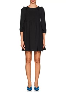 Balenciaga Women's Pleated Crepe Babydoll Dress-1000