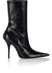 Balenciaga Women's Pointed-Toe Python Ankle Booties