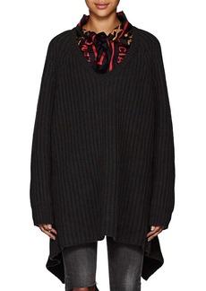 Balenciaga Women's Scarf-Collar Chunky Virgin Wool Sweater