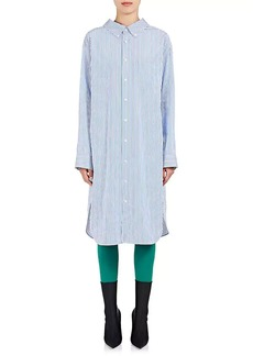 Balenciaga Women's Striped Cotton Shirtdress