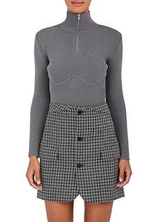 Balenciaga Women's Underwire-Detailed Wool-Blend Sweater