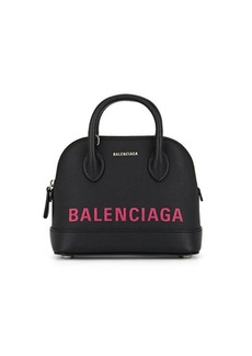 Balenciaga Women's Ville Extra-Extra-Small Leather Bowling Bag - Black