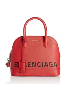 Balenciaga Women's Ville Leather Bowling Bag - Red