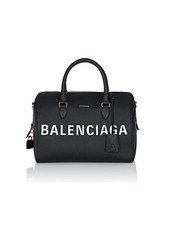 Balenciaga Women's Ville Medium Leather Satchel - Black