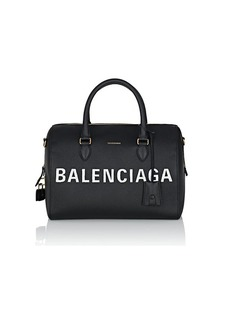 Balenciaga Women's Ville Medium Leather Satchel - Black