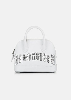 Balenciaga Women's Ville Mini Leather Bowling Bag - White