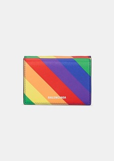 Balenciaga Women's Ville Striped Leather Mini Wallet