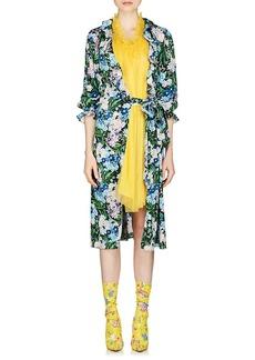 Balenciaga Women's Wildflower-Print Nightgown-Style Midi-Dress