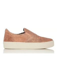 Balenciaga Women's Textured Leather Slip-On Sneakers