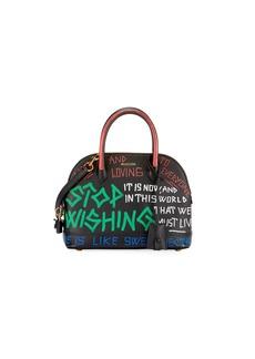 Balenciaga XS Graffiti Leather Top Handle Bag