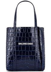 Balenciaga XXS Embossed Croc Everyday Tote