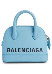 Balenciaga Extra Extra Small Ville Logo Leather Crossbody Satchel