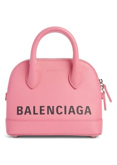Balenciaga Extra Extra Small Ville Logo Leather Crossbody Satchel