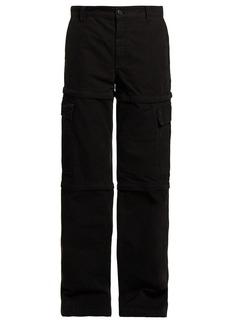 Balenciaga Zipped panel cotton cargo trousers