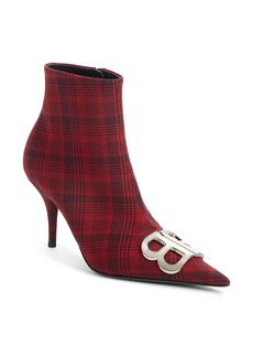 Balenciaga Balenciagia BB Glen Plaid Bootie (Women)