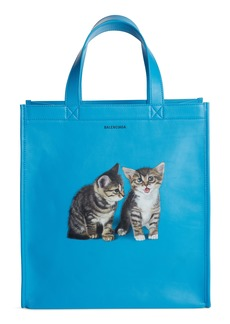 Balenciaga Kittens Market Leather Shopper