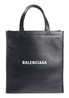Balenciaga Balengciaga Logo Market Leather Shopper