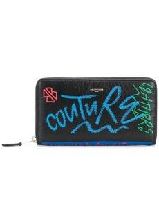 Balenciaga Bazar Continental Graffiti Wallet