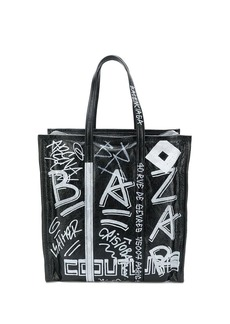 Balenciaga Bazar graffiti M shopper tote
