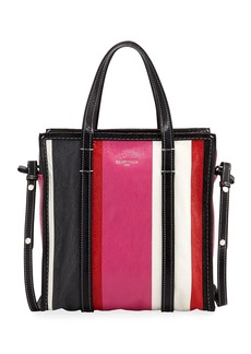 Balenciaga Bazar Shopper Small Striped Leather Tote Bag
