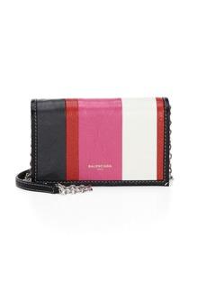Balenciaga Bazar Stripe Crossbody Bag