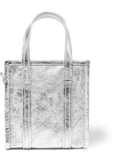 Balenciaga Bazar Xxs Aj Metallic Textured-leather Tote