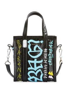 Balenciaga Bazar XXS Graffiti Lambskin Tote Bag