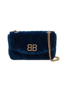 Balenciaga Bb Chain Wallet Velvet Bag