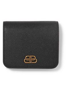 Balenciaga Bb Compact Textured-leather Wallet