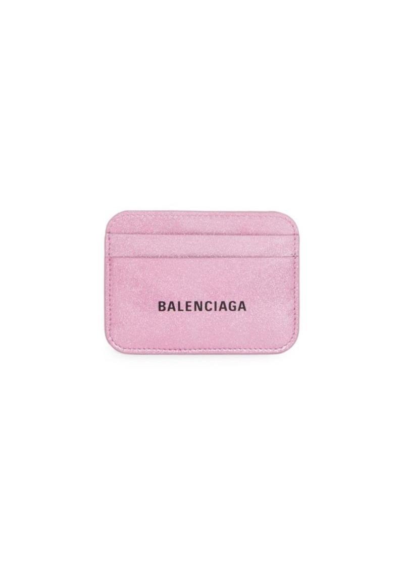 Balenciaga BB Glitter Leather Card Holder