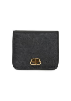 Balenciaga Bb Grained Leather Compact Wallet