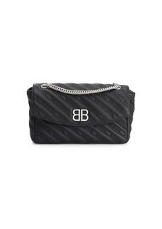 Balenciaga BB Leather Crossbody Bag