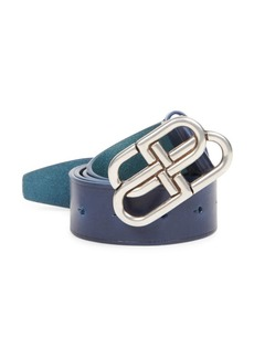 Balenciaga BB Logo Leather Belt