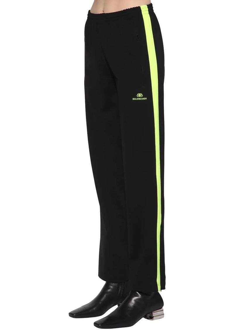 Balenciaga Bb Logo Tech Crepe Jersey Track Pants