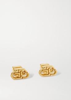 Balenciaga Bb Stud Xs Gold-tone Earrings