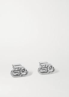 Balenciaga Bb Stud Xs Silver-tone Earrings
