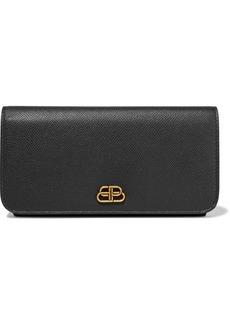 Balenciaga Bb Textured-leather Continental Wallet