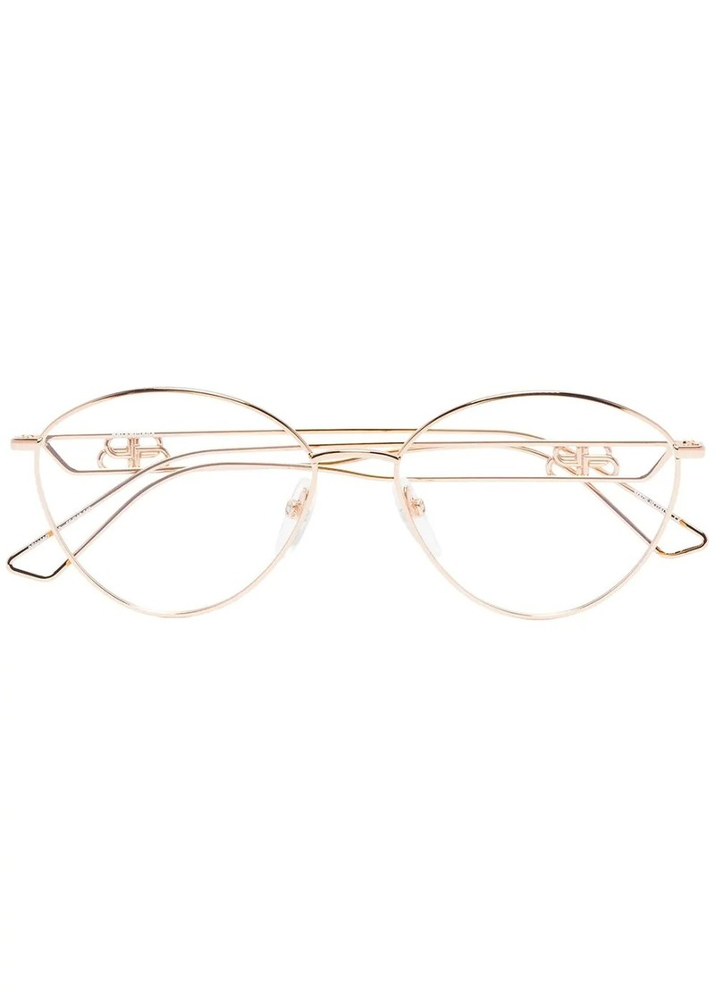 Balenciaga BB wire frame glasses