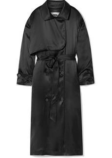 Balenciaga Belted Silk-satin Midi Dress