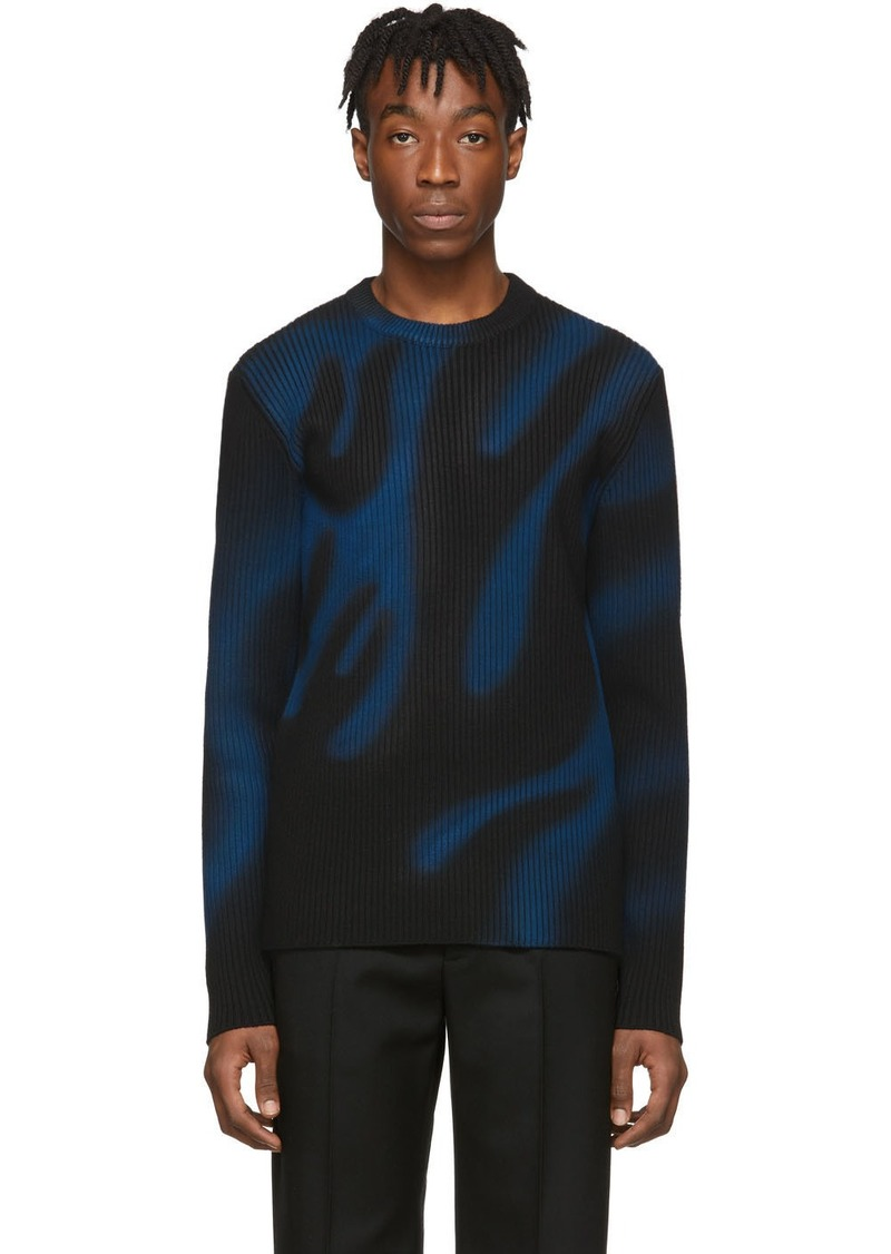 Balenciaga Black & Blue Flame Sweater