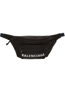 Balenciaga Black & Navy Wheel Belt Pouch