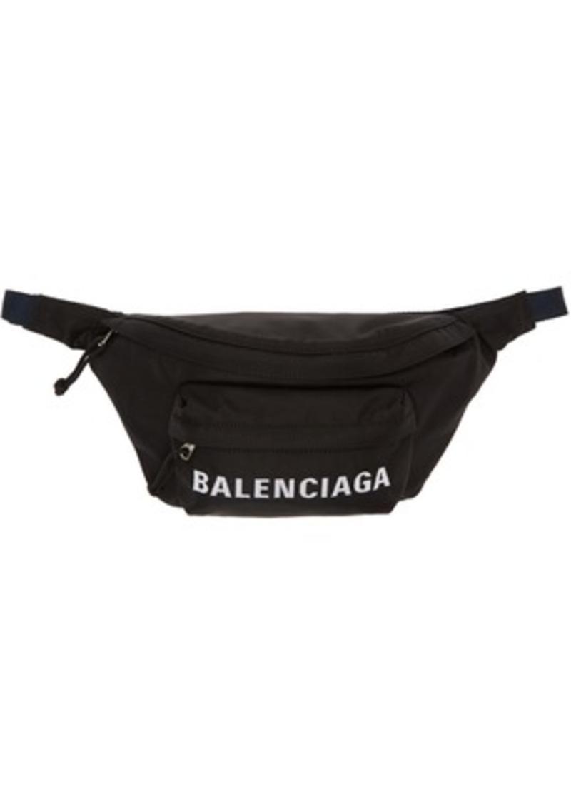 Balenciaga Black & Navy Wheel Belt Pouch