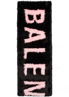 Balenciaga Black & Pink Faux-Fur Giant Scarf