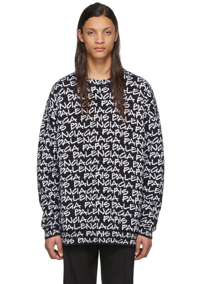 Black & White 'Balenciaga Paris' Sweatshirt