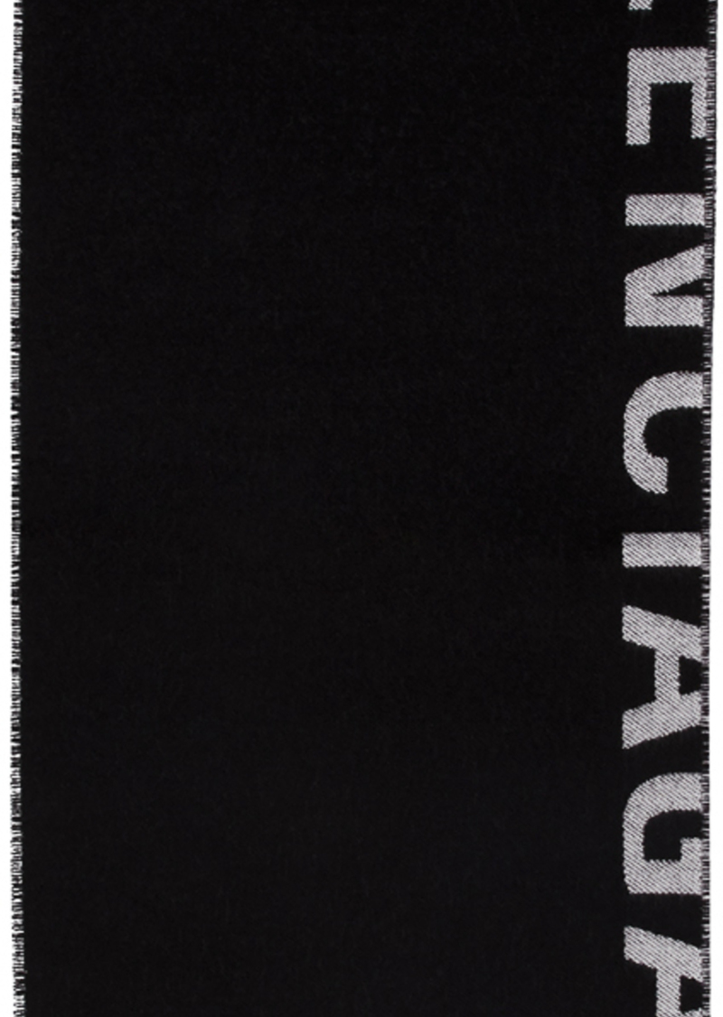 Balenciaga Black & White New Logo Scarf