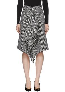Balenciaga Black & White Wool Fringe Skirt