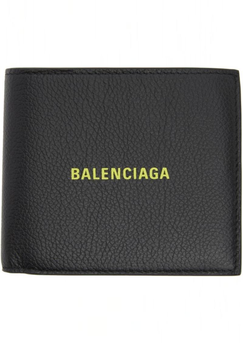 Balenciaga Black & Yellow Square Coin Wallet