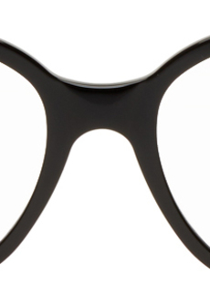 Balenciaga Black Acetate Cat-Eye Glasses
