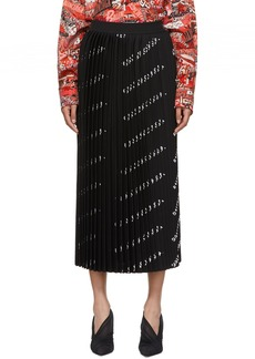Balenciaga Black Allover Logo Skirt