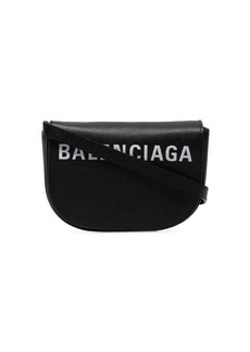 Balenciaga black and white ville XS leather crossbody bag